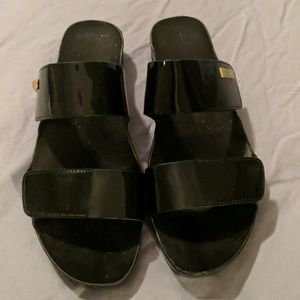 Calvin Klein black flat sandals